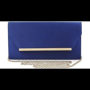 BCBGMaxAzria Bags - BCBGMaxAzria Blue Flap Bag